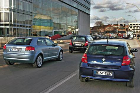 Audi A3, BMW 116i, Mercedes A 150