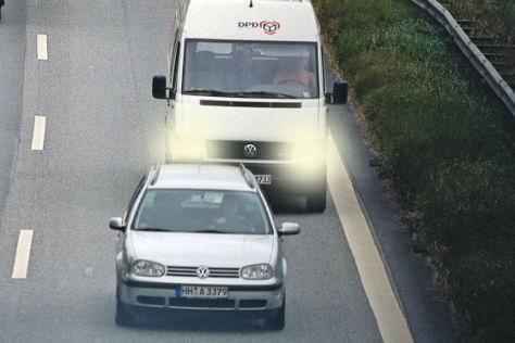 Drängler auf der Autobahn