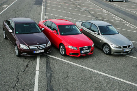 Audi A4 1.8 TFSI, BMW 318i, Mercedes-Benz C 180 K