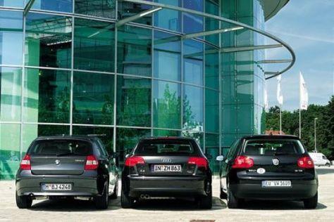 Audi A3 Sportback – BMW 1er – VW Golf