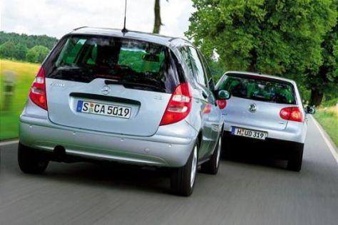 Mercedes A 180 CDI gegen VW Golf 1.9 TDI