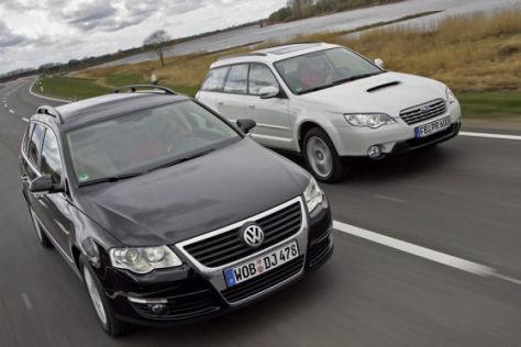 VW Passat Variant 2.0 TDI 4Motion Subaru Outback 2.0D