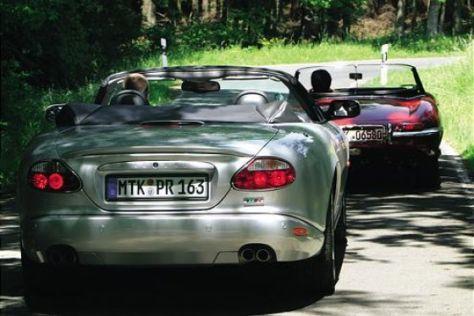 Jaguar E-Type trifft XKR Cabrio