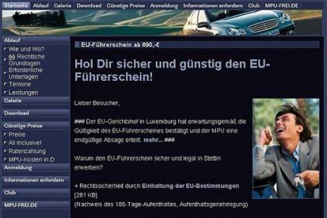 Werbung EU-Führerschein