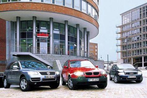 Audi A6 Avant, BMW X3 und VW Touareg