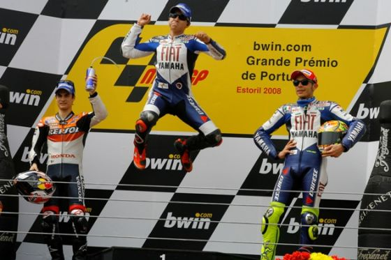 MotoGP-Podium, GP von Portugal 2008