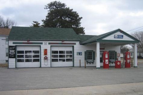 Alte Tankstelle in Illinois
