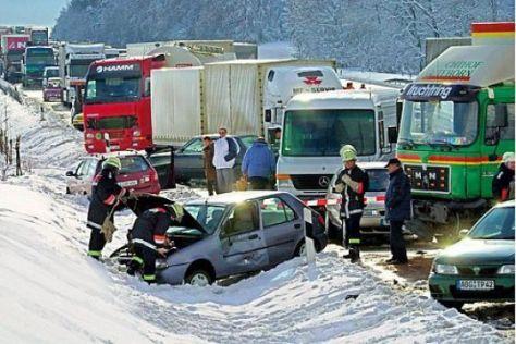 Schnee Autobahn