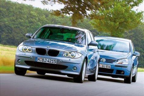 BMW 120i gegen VW Golf 2.0 FSI
