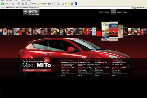 Screenshot Alfa MiTo Blog