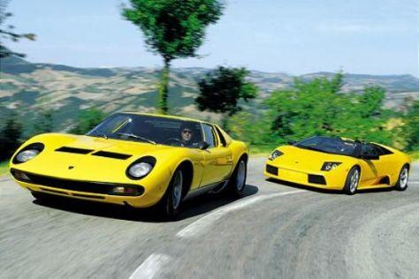 Lamborghini gestern und heute
