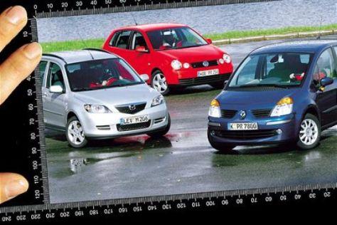 Renault Modus gegen Mazda2 und VW Polo