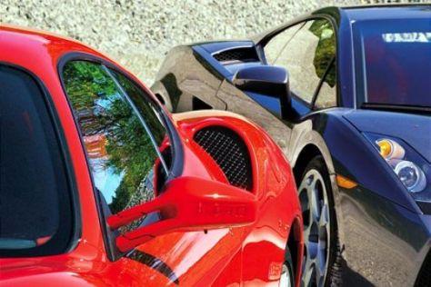 Ferrari F430 gegen Lamborghini Gallardo