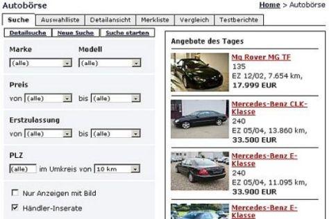 Der neue Automarkt von autobild.de