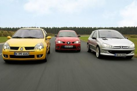 Clio Sport – Ibiza Cupra TDI – 206 RC