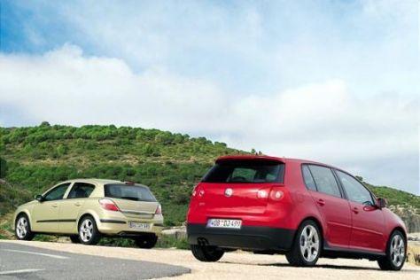 Test Opel Astra Turbo gegen VW Golf GTI