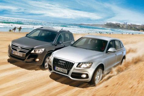 VW Tiguan und Audi Q5 im Vergleich - autobild.de