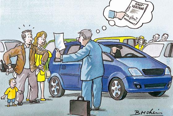 ratgeber autokauf vertrag ist vertrag