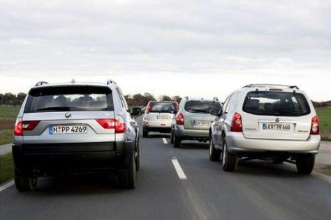 Vergleich BMW X3 gegen drei Asien-SUV