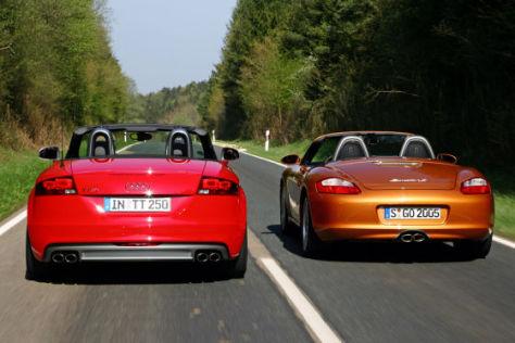 Audi TTS Roadster Porsche Boxster S