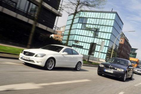 Mercedes CLC 220 CDI BMW 120d Coupé