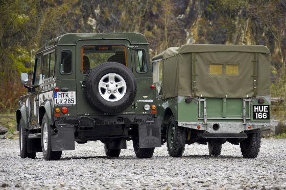 Land Rover Alt gegen neu