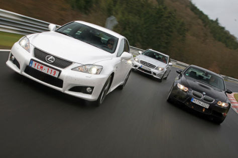 BMW M3 Mercedes C 63 AMG Lexus IS F