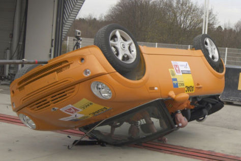 Rollover-Crashtest Mini Cabrio