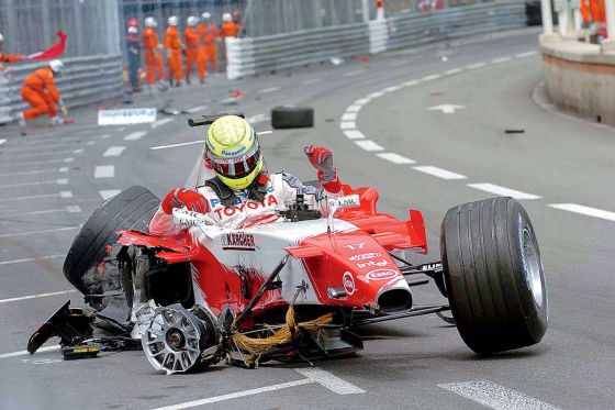 GP von Monaco 2005, Ralf Schumacher Qualifikation, Crash