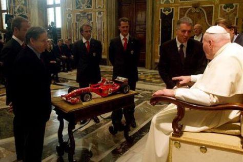Schumi-Audienz beim Papst