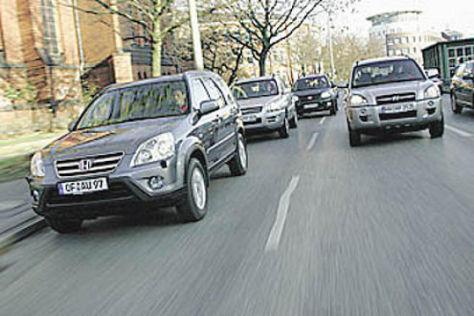 Vier kompakte SUV aus Asien