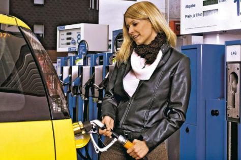 Tanken an einer LPG-Zapfsäule