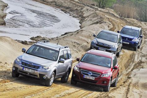 Subaru Forester 2.0X  VW Tiguan 1.4 TSI Honda CR-V2.0 Honda CR-V 2.0 Nissan X-Trail 2.0