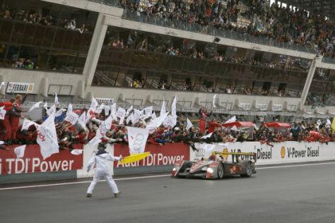 24h von Le Mans 2008, Audi R10 TDI im Ziel
