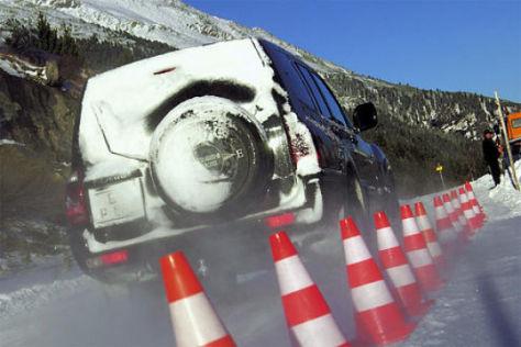 Reifentest auf Schnee