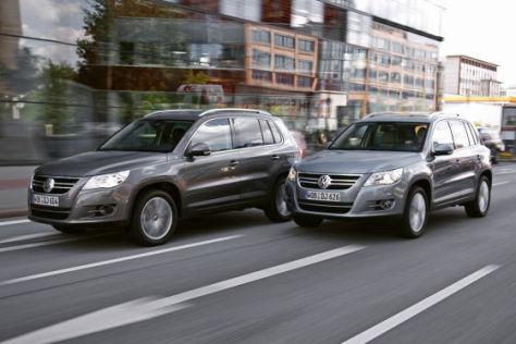VW Tiguan, Diesel und Benziner