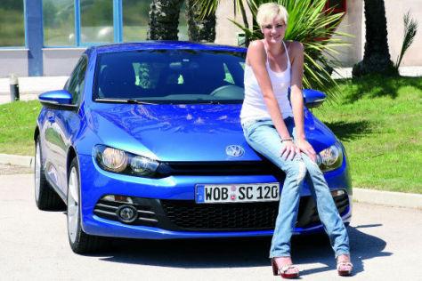 Jennifer Hof und der neue VW Scirocco