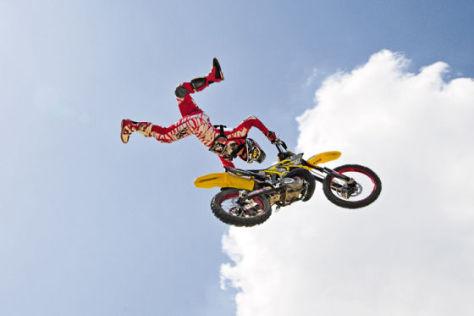 Motorrad Sprung
