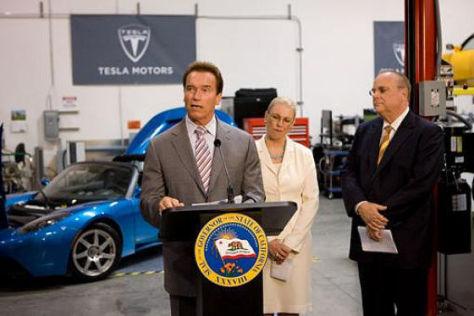 Schwarzenegger bei Tesla