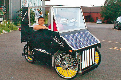 Selbstgebautes Solarauto USA
