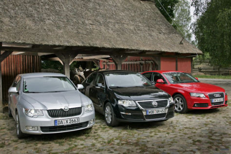 Audi A4 Skoda Superb VW Passat