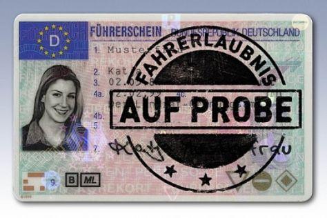 Führerschein auf Probe