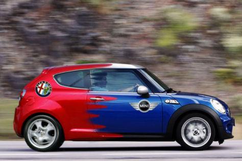 Montage Fiat MiTo und Mini