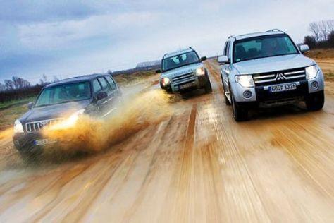 Toyota Land Cruiser, Range Rover, Mitsubishi Pajero