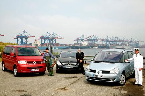 VW T5 Multivan 2,5 TDI Comfortline Mercedes-Benz R-Klasse 280 CDI Renault Grand Espace 2.0 dCi FAP Dynamique