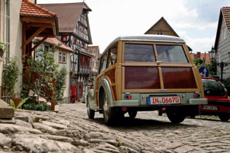 Mit dem DKW F 89 Universal auf der Fachwerkstraße