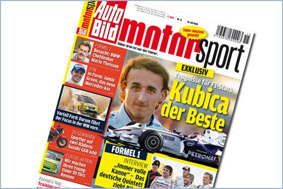 auto bild motorsport 15 2008 kubica ist der beste. Black Bedroom Furniture Sets. Home Design Ideas