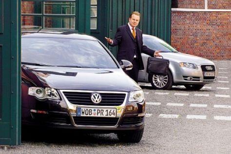 Audi A4 gegen VW Passat