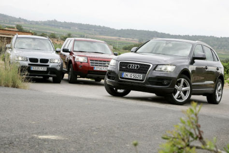 Audi Q5, BMW X3, Land Rover Freelander 2