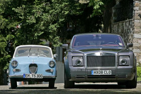 Rolls Royce Phantom Coupe, Goggomobil 300 TS Coupe